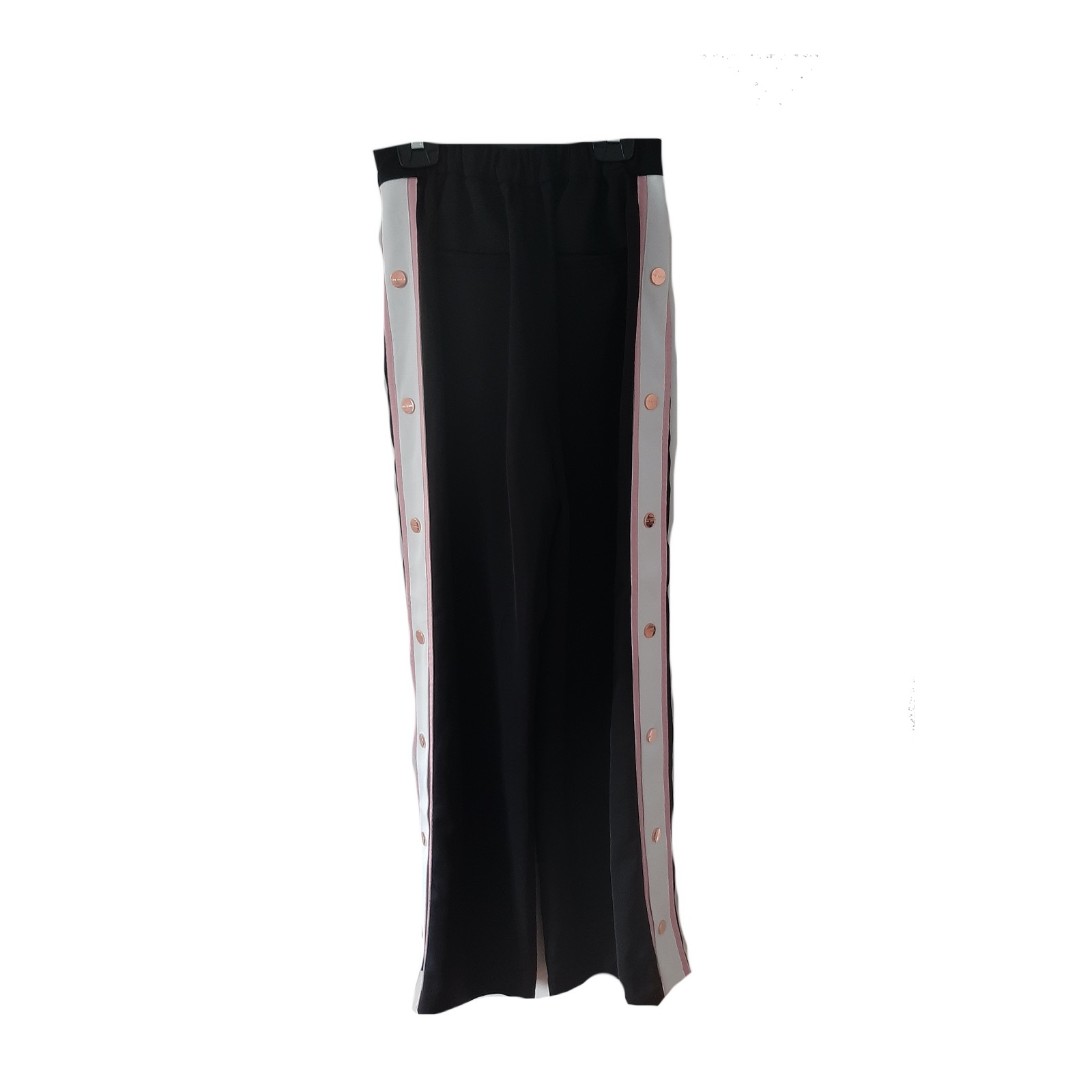 Szerokie spodnie Ted Baker lampas palazzo guziki eleganckie 36 s