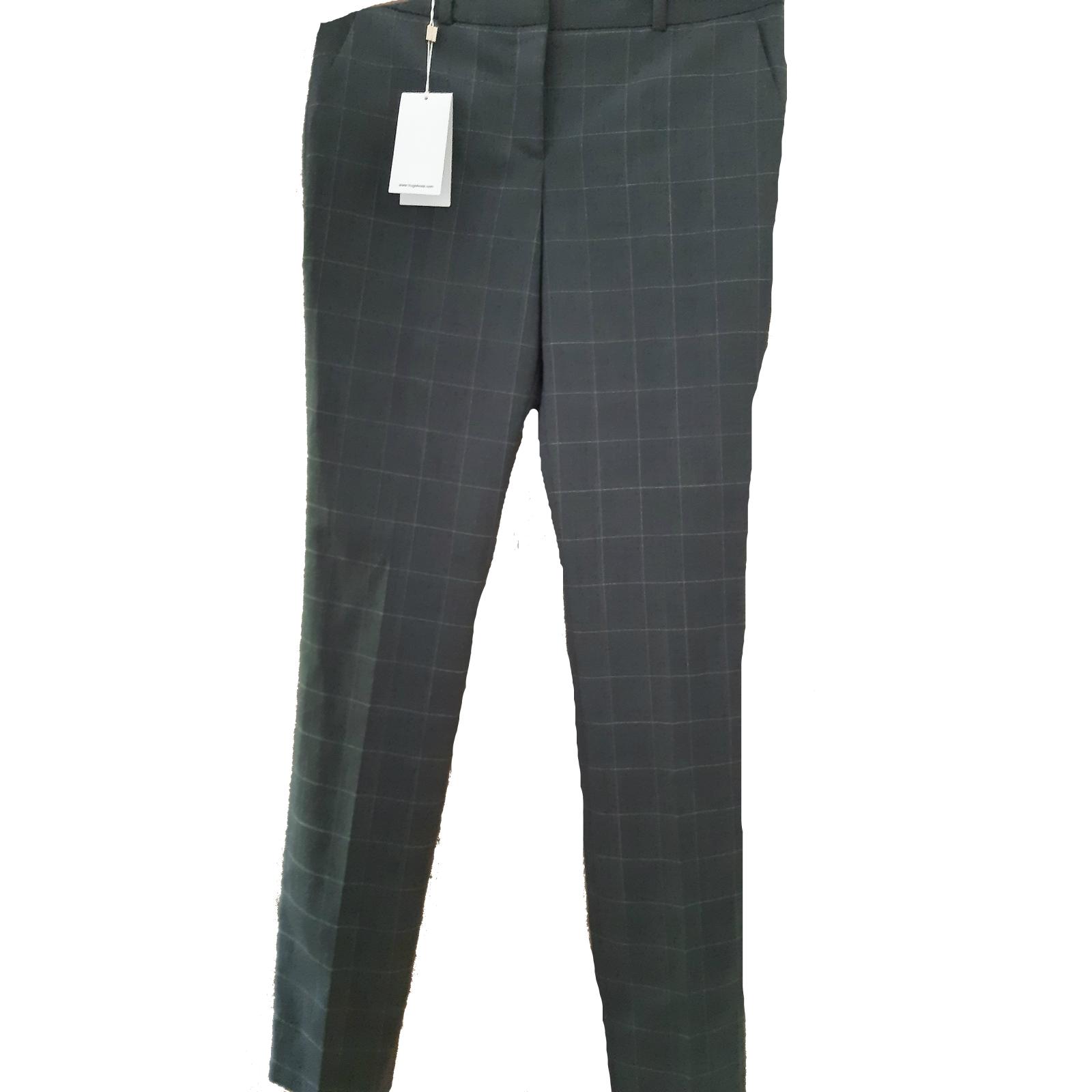 Spodnie w kratkę Hugo Boss