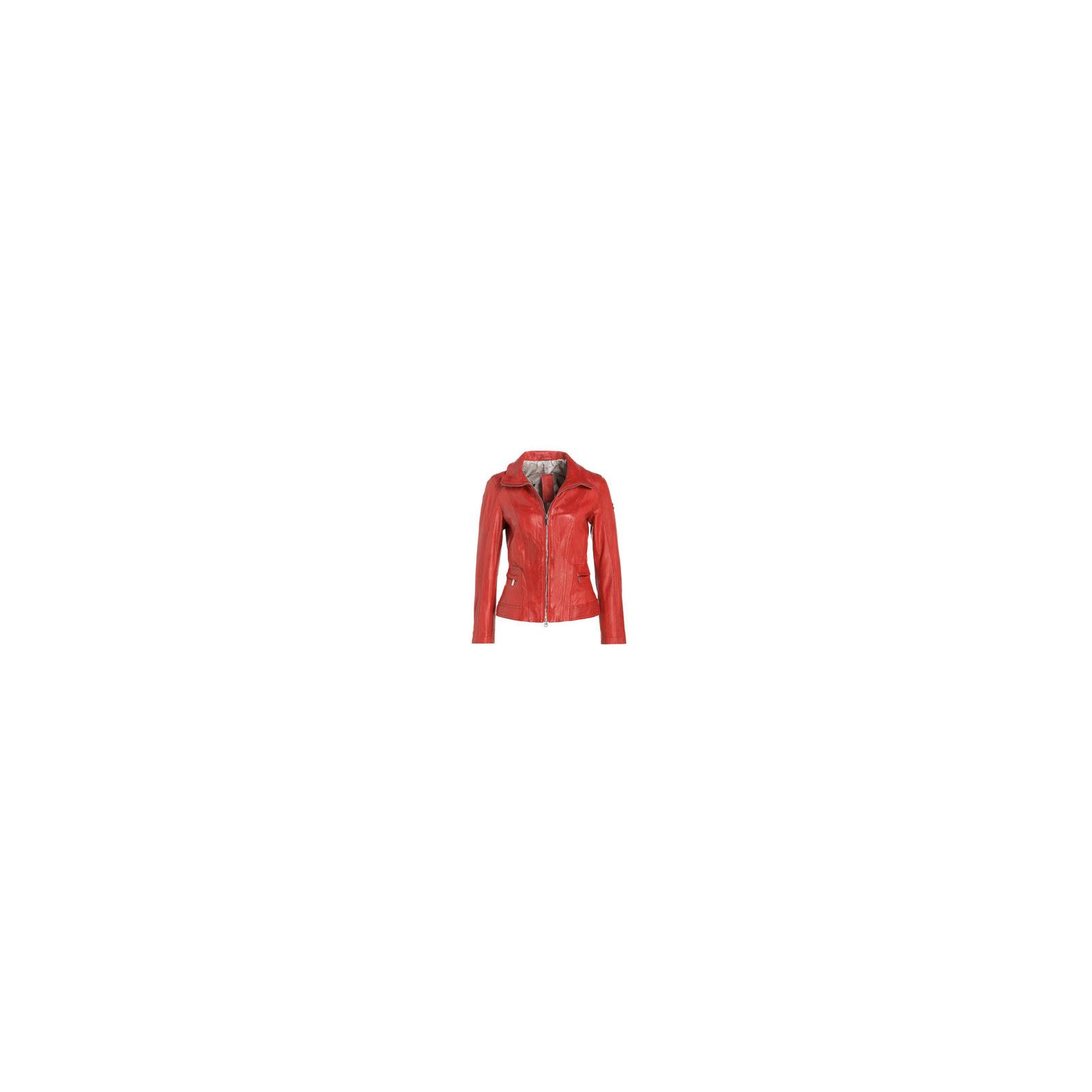 Skórzana czerwona kurtka Milestone r.38
