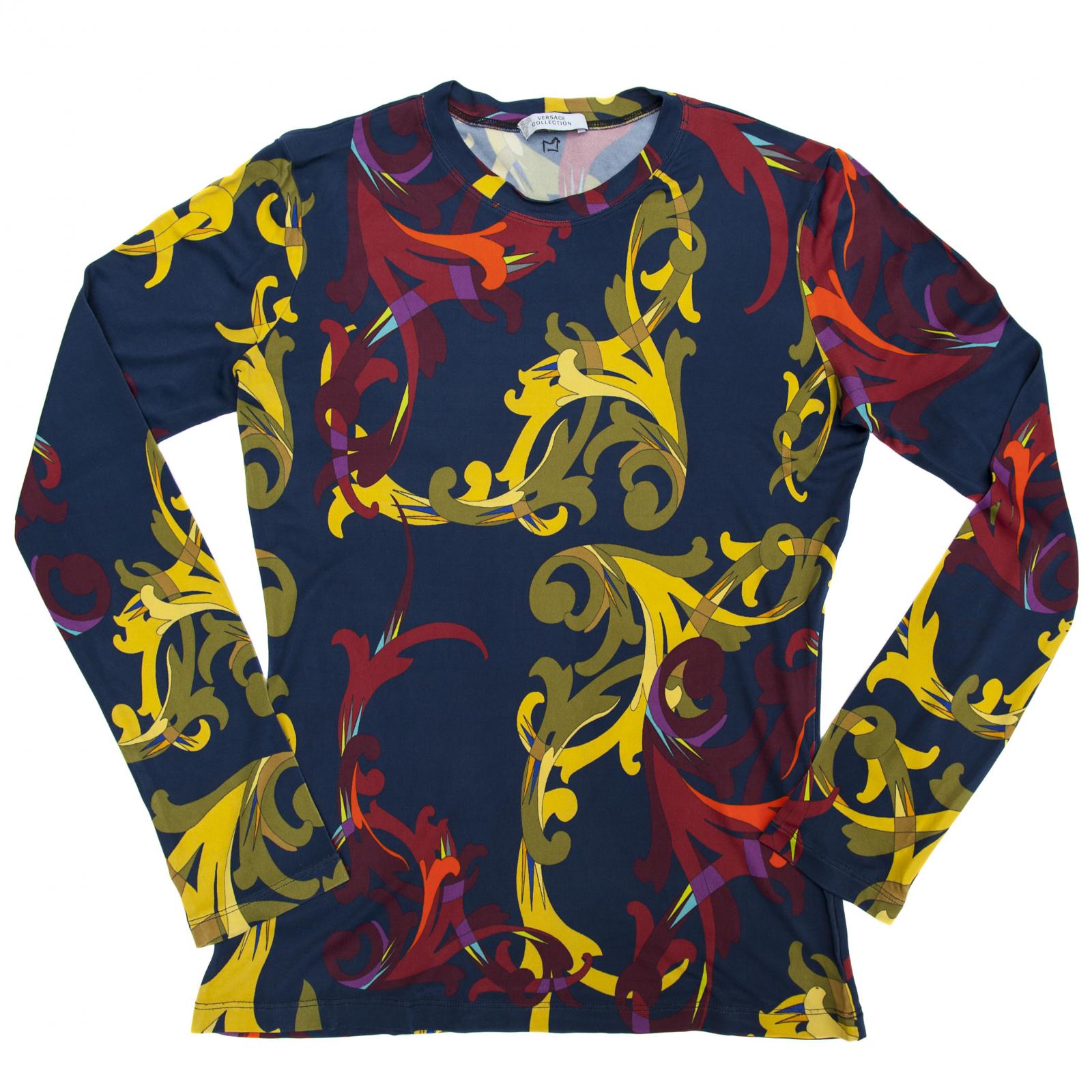 Kolorowa bluzka na długi rękaw