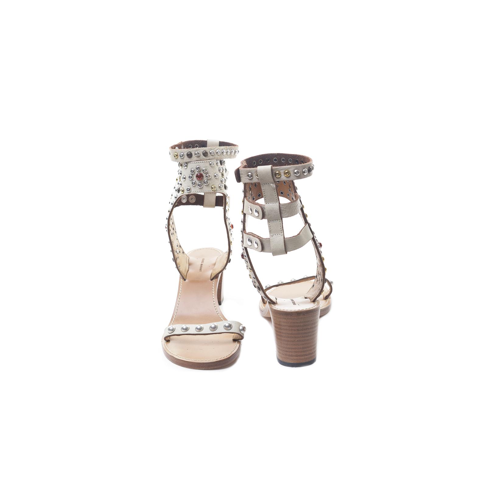 Isabel Marant Beżowe sandały Carol