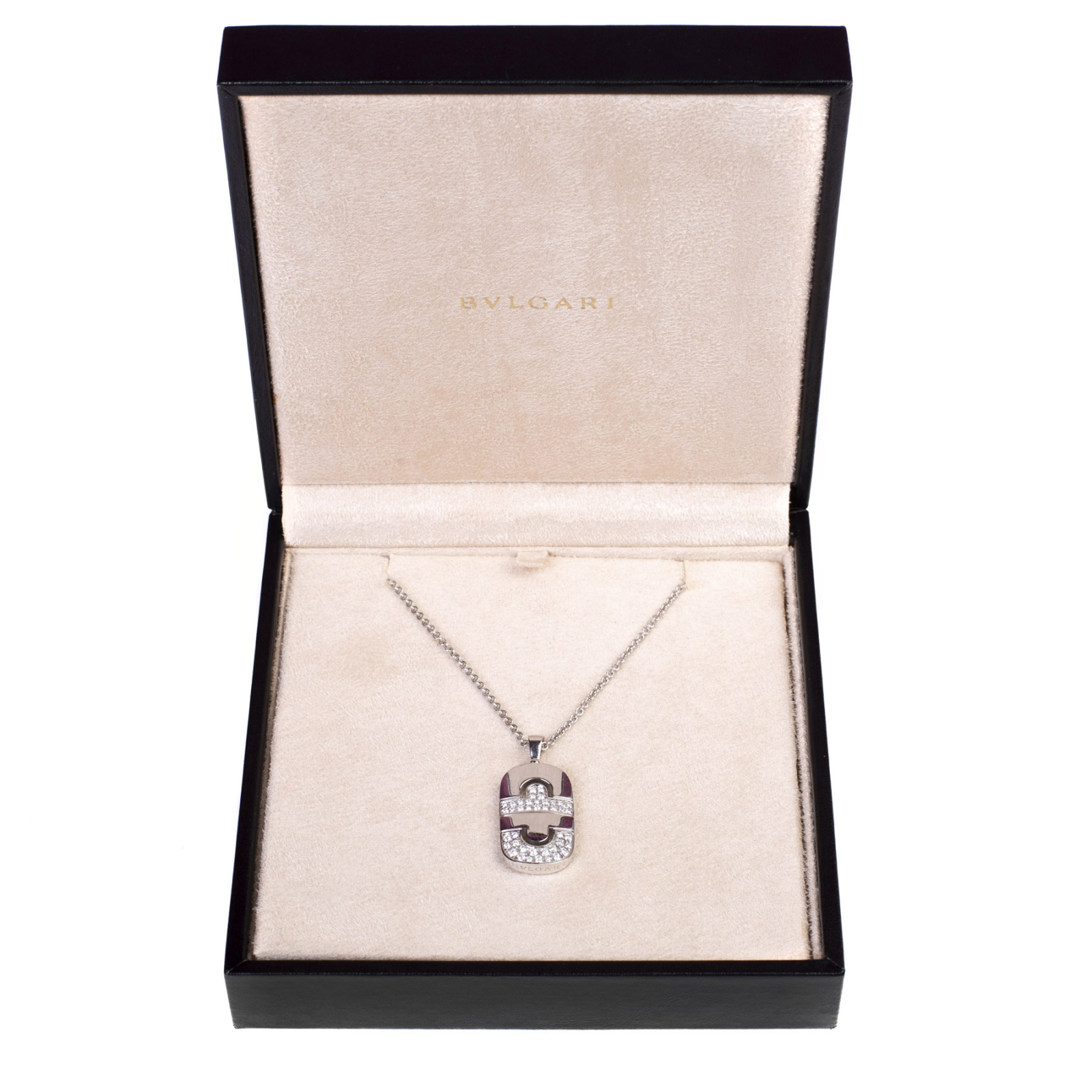Bulgari Parentesi White Gold and Diamond Pendant Necklace