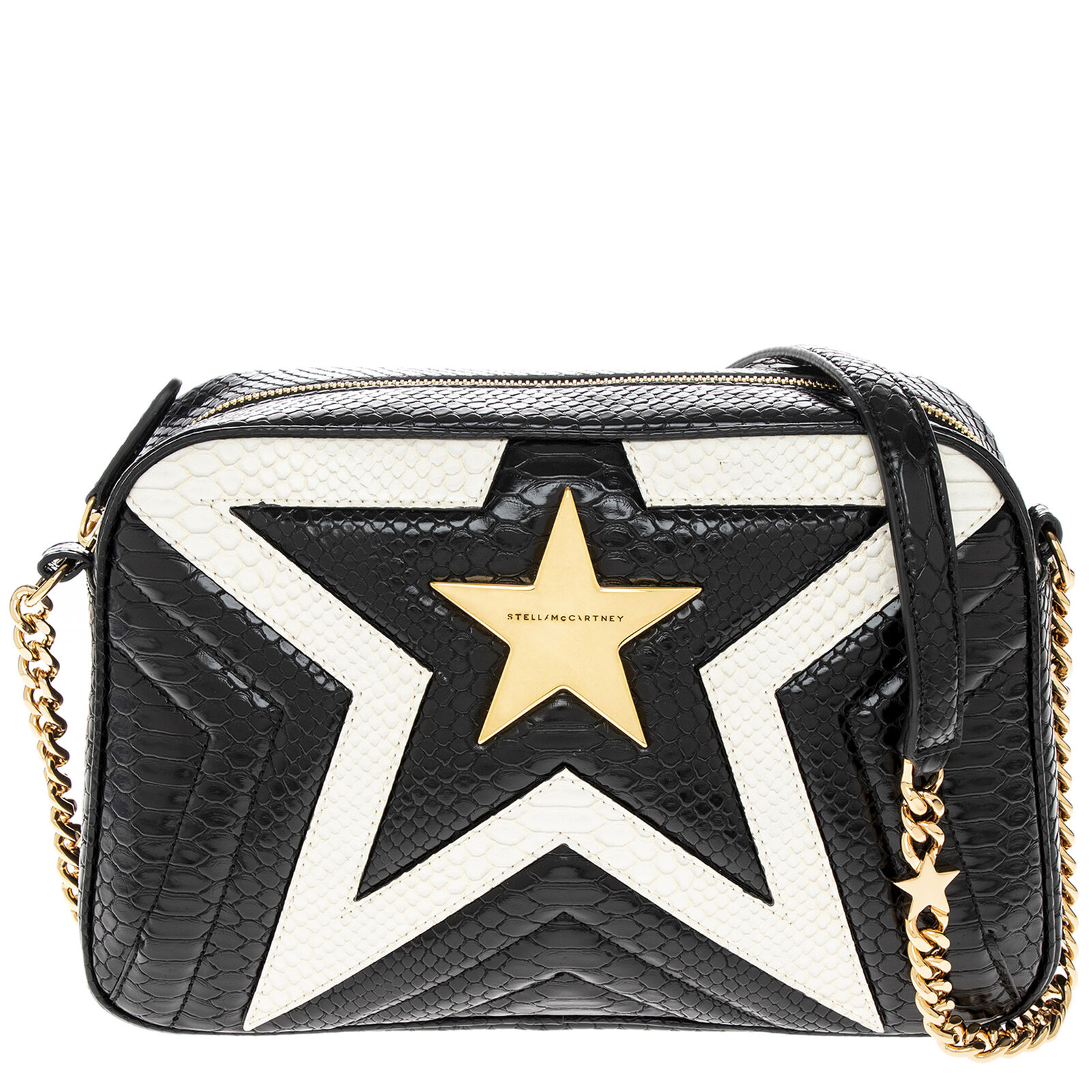 Stella McCartney python-embossed Star Camera Bag