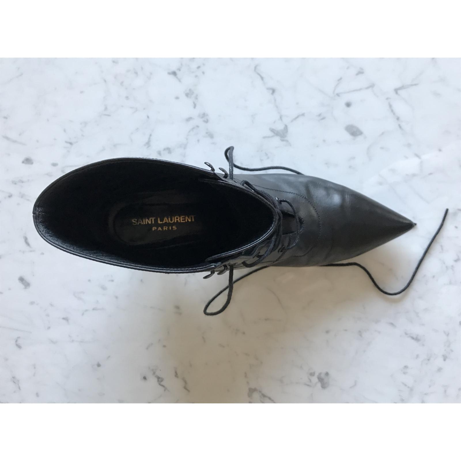 Buty skórzane Saint Laurent