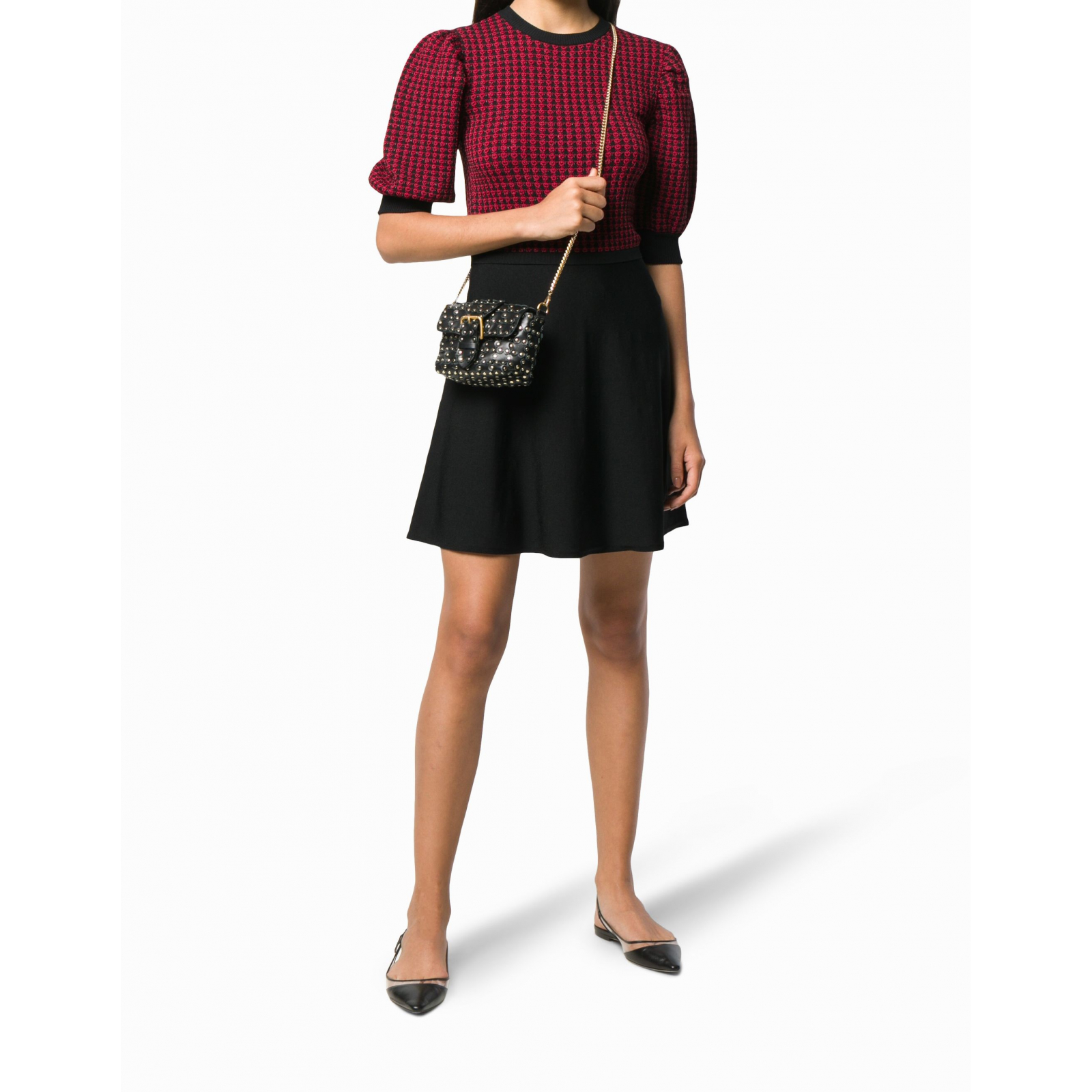 RED VALENTINO knitted A-line dress M-L
