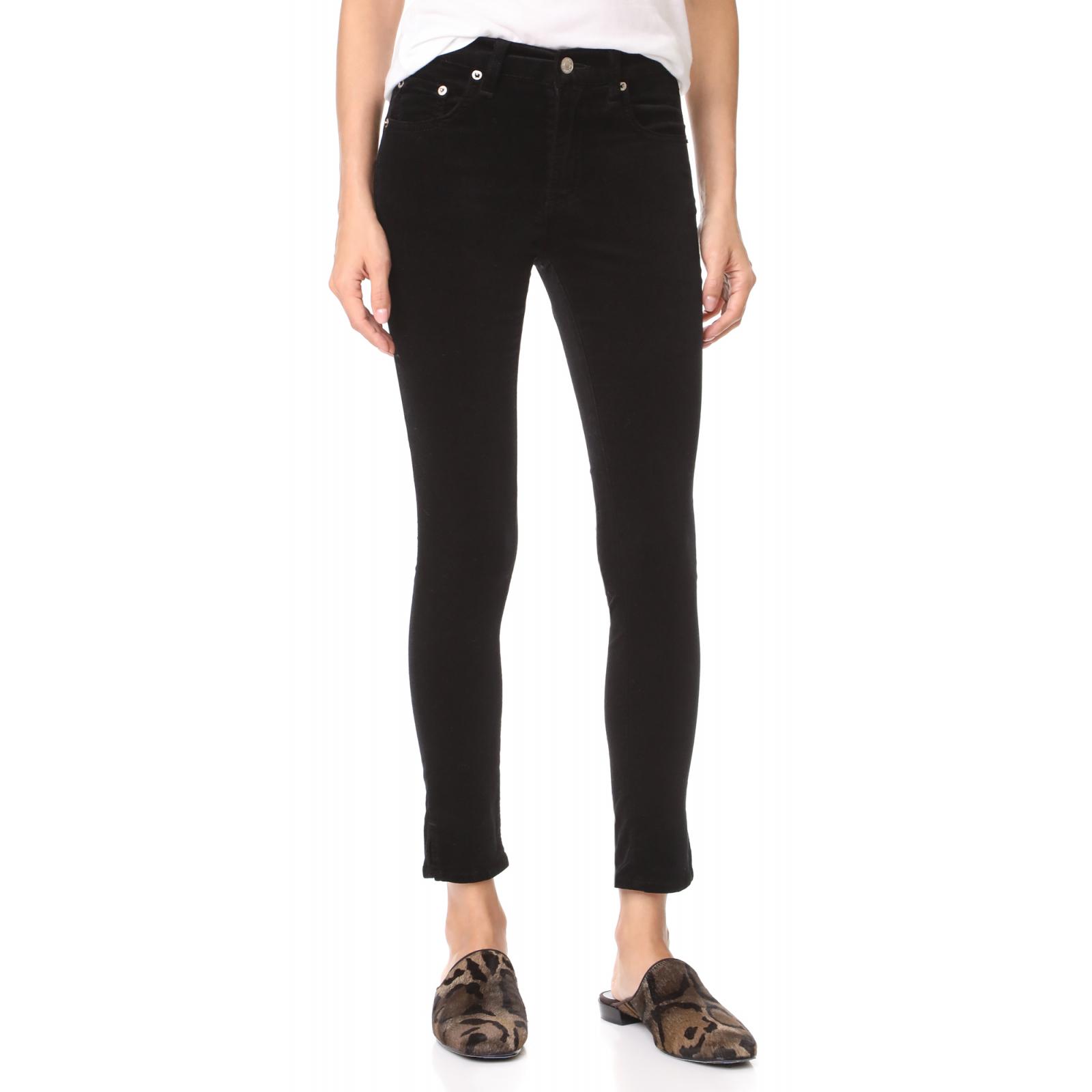 Rag & Bone High-rise Velvet Skinny Jeans 28