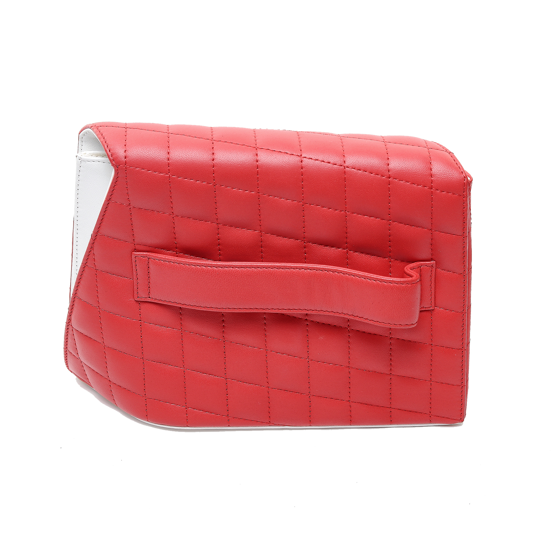 b1a009b5276caa ... Chanel Red/White Quilted Lambskin Leather Fresh Air Clutch Bag ...