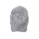Szara wełniana czapka z aplikacją