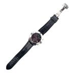 Zegarek  na czarnym skórzanym pasku