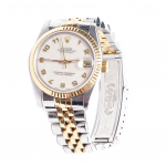 Rolex 18K & Stainless Steel Arabic Dial Datejust