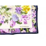 Chusta Yves Saint Laurent apaszka w kwiaty