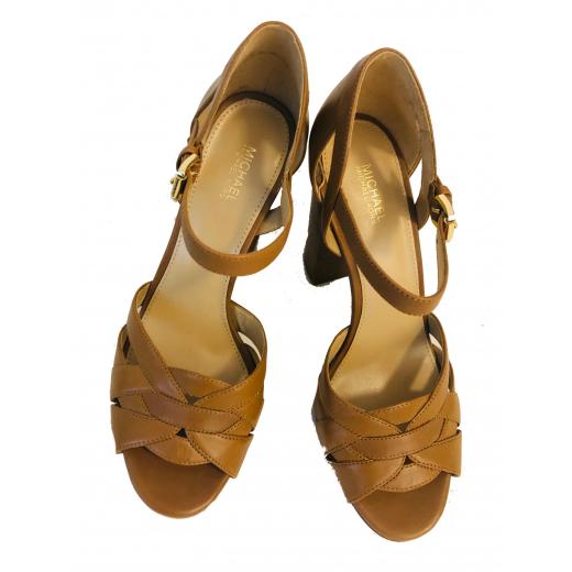Sandały skórzane wysokie