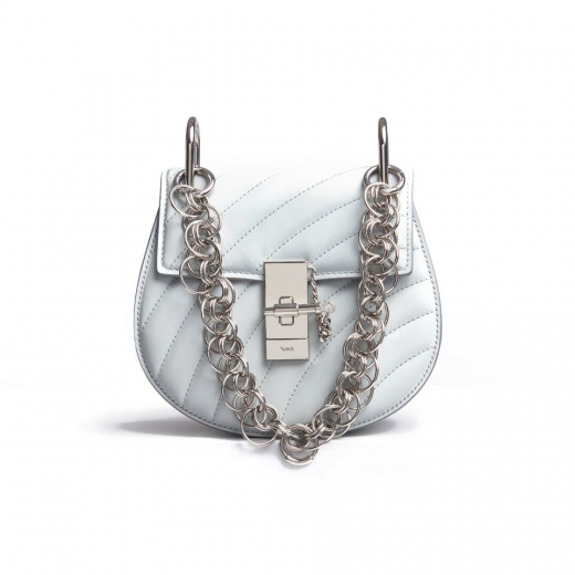 CHLOE MINI DREW BIJOU SHOULDER BAG airy grey
