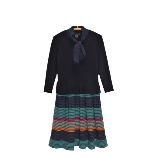 Sukienka Marc by Marc Jacobs z jedwabnym szalem