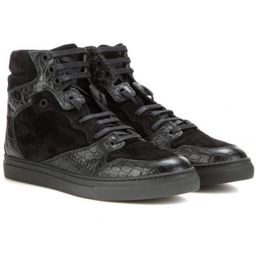 Balenciaga snikersy Black High-tops Sneakers