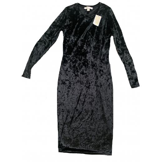 czarna welurowa sukienka Michael Kors S nowa