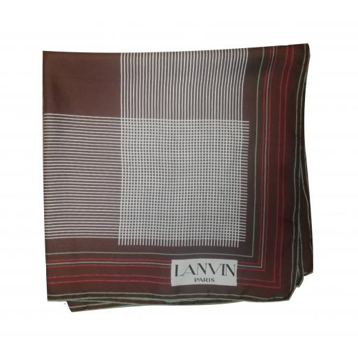 Jedwabna apaszka vintage Lanvin