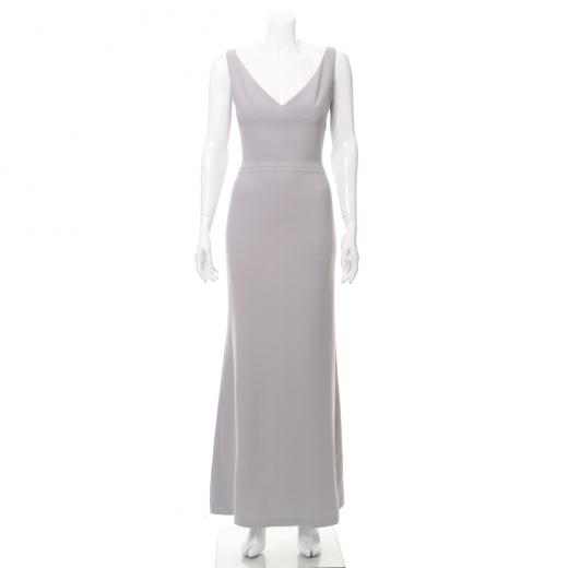 Długa suknia z zamkiem