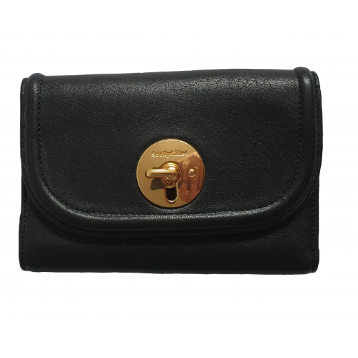 See by Chloé Black Lois Leather Wallet, nowy