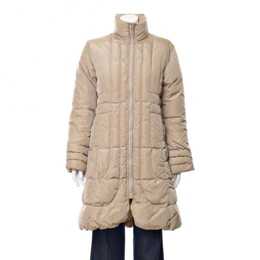 Płaszcz beżowy puchowy
