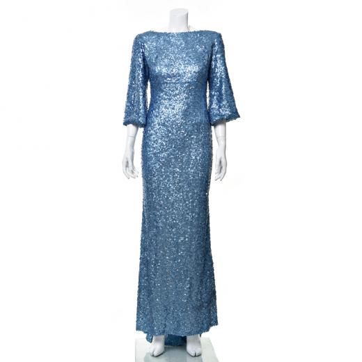 Cekinowa sukienka maxi