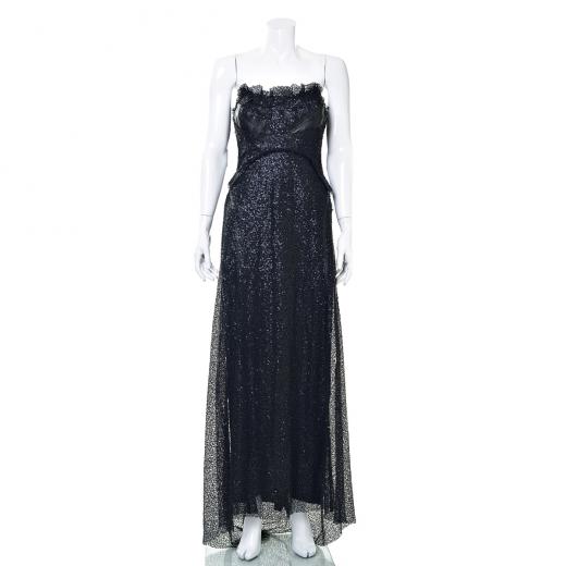 Sukienka maxi bez ramiączek