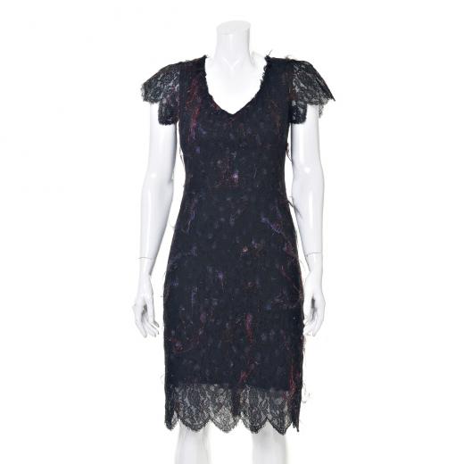 Sukienka mini z kolorowymi nićmi
