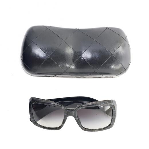 Okulary szaro czarne