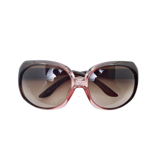 Okulary różowo-brązowe