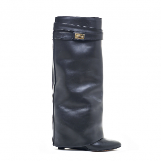 SHARK LOCK wedge knee boots