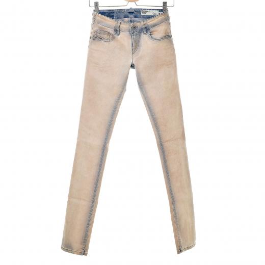 Spodnie z beżowym woskowaniem