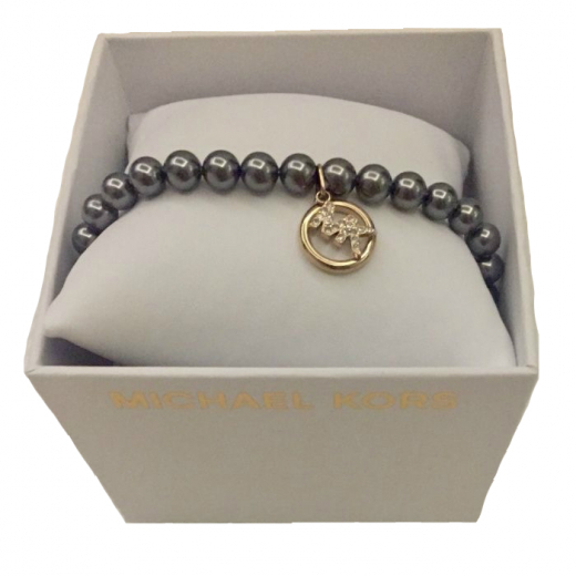 Bransoletka bransoleta MK Michael kros szara perły