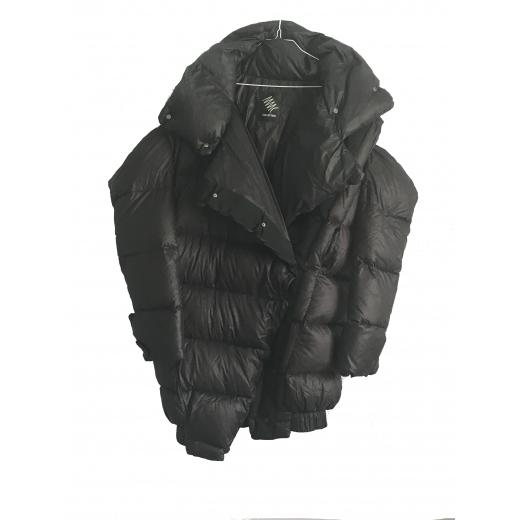 Puchowy płaszcz z odpinanymi rękawami