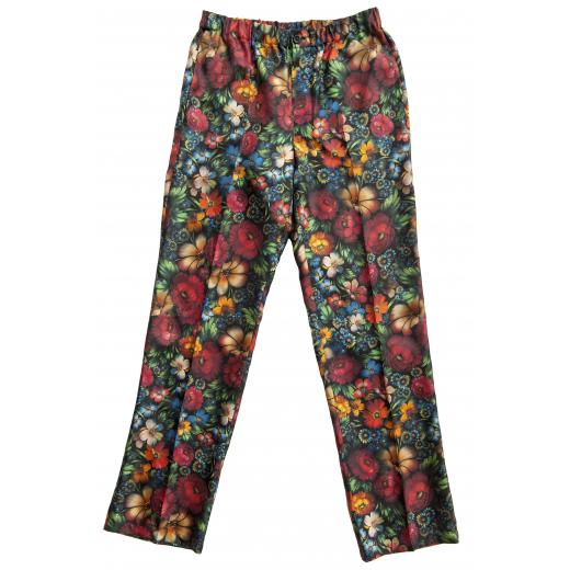 Kolorowe, jedwbne spodnie
