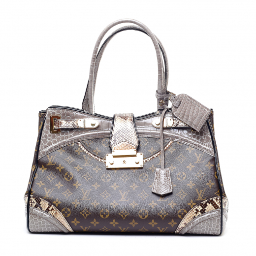 Monogram Python Alligator Monogramissime Exotic Shopper GM