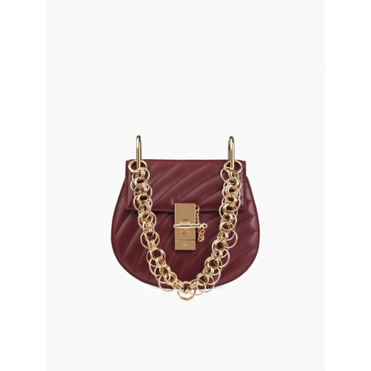 CHLOE MINI DREW BIJOU SHOULDER BAG plum purple