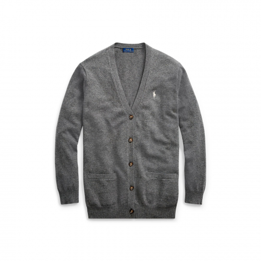 Polo Ralph Lauren szary kardigan Merino wool S/M