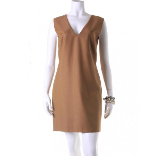 Sukienka La Mania beżowa klasyczna