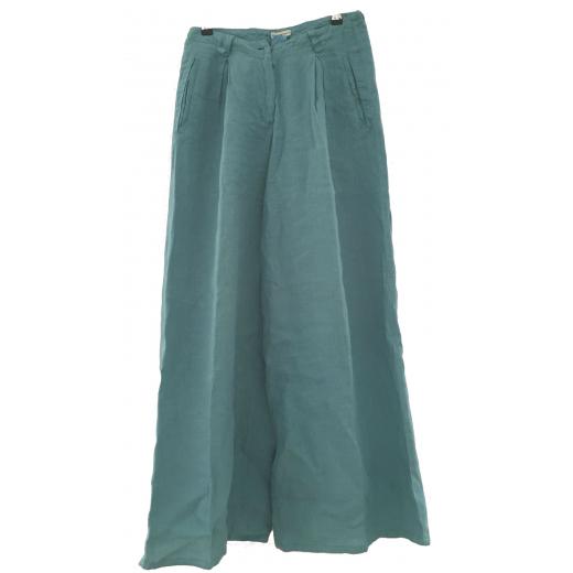 Linen Armani wide cut trousers