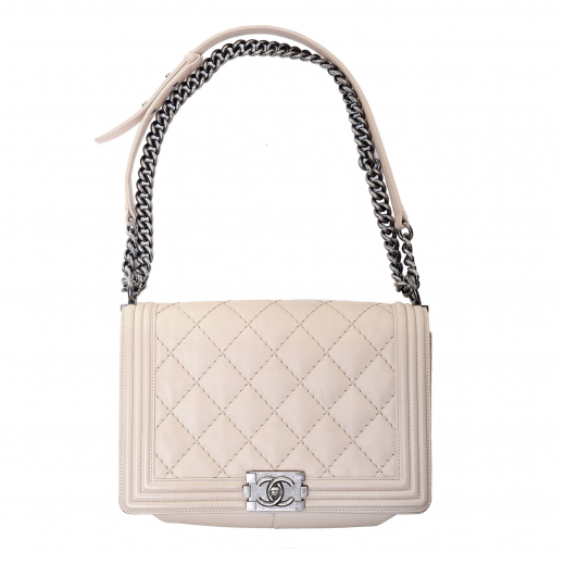 Chanel Old Medium Boy quilted calfskin and ruthenium hardware