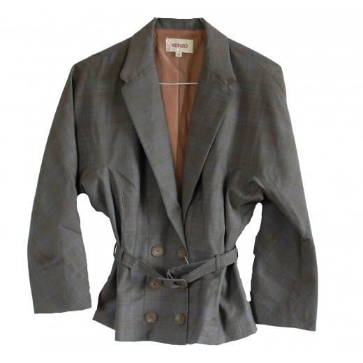 Kenzo Wool Belted Blazer