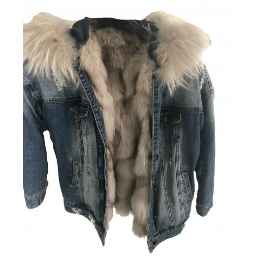 Kurtka jeans , szary lis