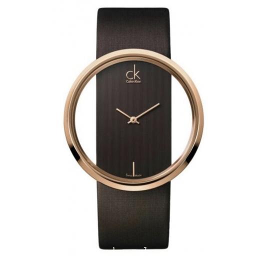 Zegarek Calvin Klein Glam oryginał paragon pudełko złoto brąz 42 mm