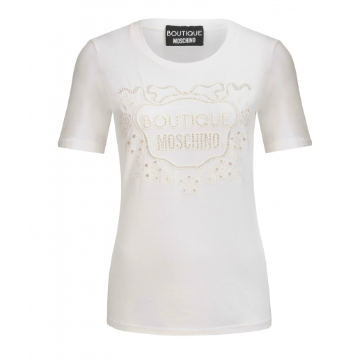 Boutique Moschino T-shirt kremowy, nowy 36