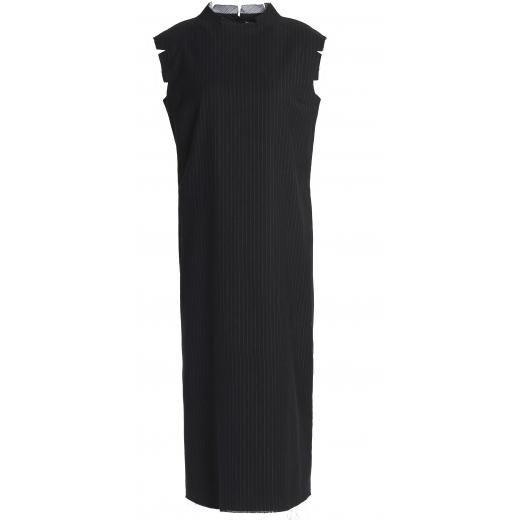 MAISON MARGIELA sukienka czarna, wełna-baw. 34/36