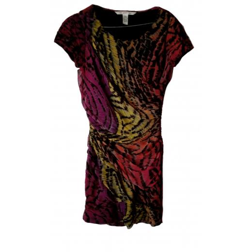Sukienka w kolorową panterkę