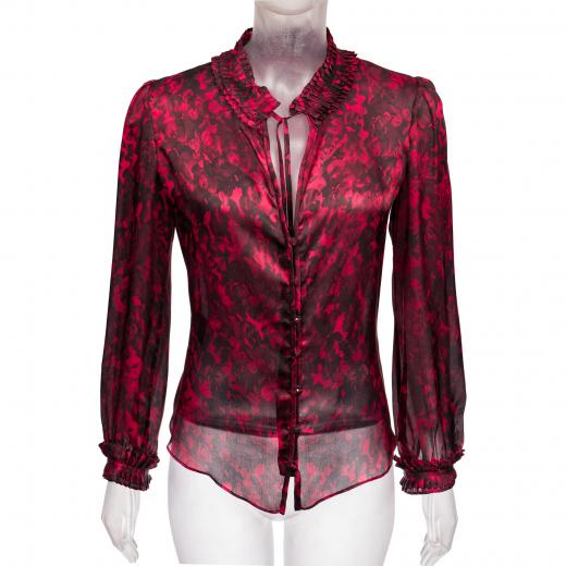Jedwabna koszula z plisowanymi wstawkami Carolina Herrera