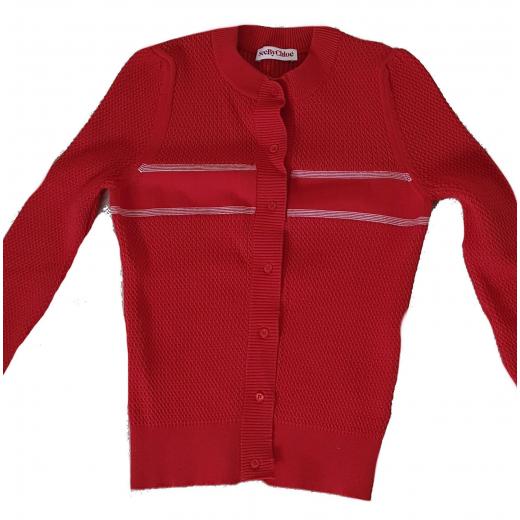 sweterek rozpinany SeeByChloe czerwony nowy