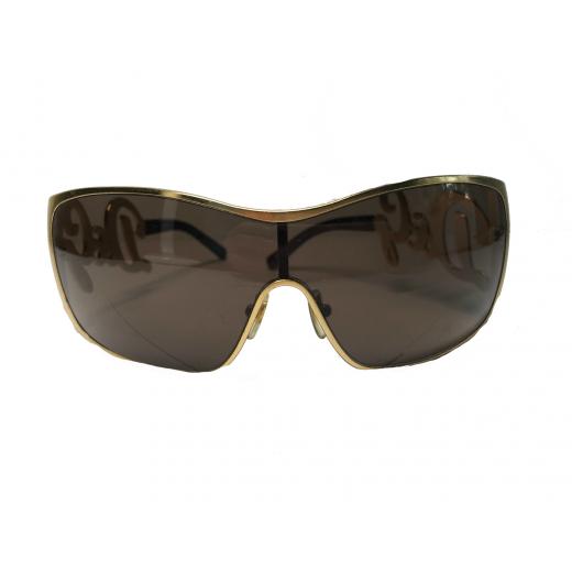 Złote okulary + etui