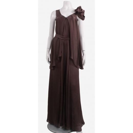 Gosia Baczyńska suknia brązowa